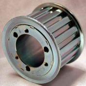"""22 Tooth Timing Pulley, (L) 3/8"""" Pitch, Clear Zinc Plated Steel, Qd22l100 - Min Qty 3"""