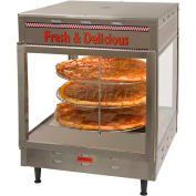 "Benchmark 18"" Pizza/Pretzel Display Warmer, Humidified, 2-Door, Rotating, 3 Tier - 51018"