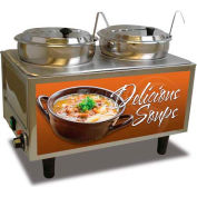 Benchmark Double Soup Station With Two Ladles 7 Quart Capacity - 51072-S