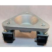 Bond® Cast Aluminum Triangular Cup Dolly 2127 - High-Density Plastic Wheels - 600 Lb. Capacity