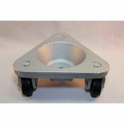 Bond® Cast Iron Triangular Cup Dolly 2127 - Hard Tread Rubber Wheels - 375 Lb. Capacity