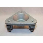 Bond® Cast Iron Triangular Cup Dolly 2127 - Semi Steel Wheels - 450 Lb. Capacity