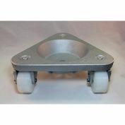 Bond® Cast Iron Triangular Cup Dolly 3310 - UHMW PE Wheels - 750 Lb. Capacity