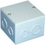 """Bud Jb-3957 Nema 1 Sheet Metal Junction Box With Lift-Off Screw Cover 8"""" W X 4"""" D X 8"""" H - Min Qty 6"""