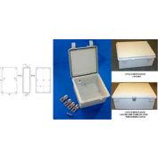 """Bud Nbf-32030 Ul/Nema/Iec Nbf Style A Abs Version Solid Door 17.71"""" L X 13.78"""" D X 7.87"""" H-Min Qty 2"""