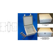 "Bud NBF-32136 UL/NEMA/IEC NBF Series Style A Indoor Bx W/ Solid Door 20.86"" L x 16.92"" D x 6.29"" H"