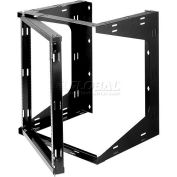 """Bud Industries SF-2283 Swing Frame Rack, Welded Assembly, 21-1/4""""W x 12""""D x 24""""H"""