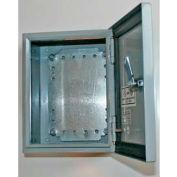 "Bud SNB-3743-SS SNB Series NEMA Sheet Metal Box 13.98"" W x 7.87"" D x 15.75"" H Stainless Steel"