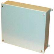 """Bud Snc-3750 Nema Sheet Metal Box With Lift-Off Screw Cover 7.87""""L X 5.91"""" D X 9.84"""" H - Min Qty 2"""