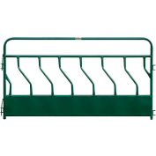 "Behlen Country Hay Feeder Panel With S-Bar 7 Feeding Spaces 120""L x 2""W, Green"