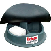 """Behlen Country 3 Block Mineral Feeder Self-Closing Rubber Cover 40""""L x 40""""W x 8""""H, 3 Compartments"""