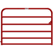 "Behlen Country 16 Gauge Heavy-Duty Gate 68"" Usable Length, 72""L x 2""W x 50""H, Red"