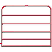 """Behlen Country 20 Gauge Utility Gate 68"""" Usable Length, 72""""L x 1-5/8""""W x 50""""H, Red"""