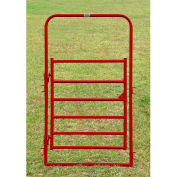 """Behlen Country 16 Gauge Medium-Duty Arch Gate 44"""" Usable Length, 48""""L x 1-5/8""""W x 84""""H, Red"""