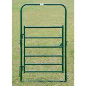 "Behlen Country 16 Gauge Medium-Duty Arch Gate 44"" Usable Length, 48""L x 1-5/8""W x 84""H, Green"