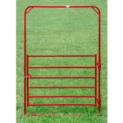 """Behlen Country Utility Arch Gate 68"""" Usable Length, 72""""L x 1-5/8""""W x 108""""H,H Red"""
