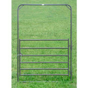 """Behlen Country Utility Arch Gate 68"""" Usable Length, 72""""L x 1-5/8""""W x 108""""H, Gray"""