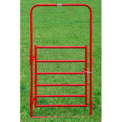 """Behlen Country Utility Arch Gate 44"""" Usable Length, 48""""L x 1-5/8""""W x 96""""H, Red"""