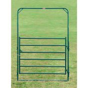 """Behlen Country Pin Connection Arch Gate 68"""" Usable Length, 72""""L x 1-5/8""""W x 108""""H, Green"""