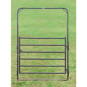 """Behlen Country Pin Connection Arch Gate 68"""" Usable Length, 72""""L x 1-5/8""""W x 108""""H, Gray"""