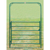 """Behlen Country Chain Connection Arch Gate 68"""" Usable Length, 72""""L x 1-5/8""""W x 108""""H, Green"""