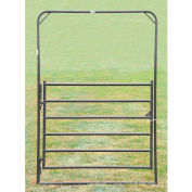 """Behlen Country Chain Connection Arch Gate 68"""" Usable Length, 72""""L x 1-5/8""""W x 108""""H, Gray"""