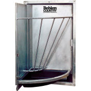 "Behlen Country Heavy Duty Galvanized Swing Out Corner Stall Feeder 20""L x 20""W x 12""H"