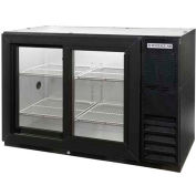 "Sliding Glass Door Back Bar Refrigerator BB-GSY Series, 48""W - BB48GSY-1-B"