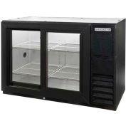 "Sliding Glass Door Back Bar Refrigerator BB-GSY Series, 48""W - BB48HC-1-GS-B"