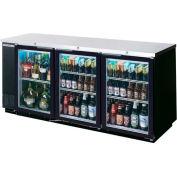 "Glass Door Back Bar Refrigerator BB-G Series, 79""W - BB78HC-1-G-B"