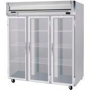 "Reach-in Freezer Horizon Series Glass & Half-Glass Doors, 78""W - HFP3-5G"