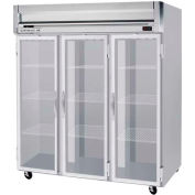 "Reach-in Freezer Horizon Series Glass & Half-Glass Doors, 78""W - HFPS3-5G"