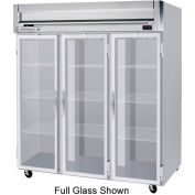 "Reach-in Freezer Horizon Series Glass & Half-Glass Doors, 78""W - HFS3-5HG"