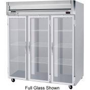 "Reach-in Freezer Horizon Series Glass & Half-Glass Doors, 78""W - HFS3HC-5HG"