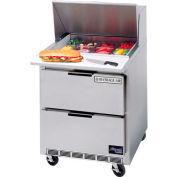 "Food Prep Tables SPED27 Elite Series Mega Top w/ Drawers, 27""W - SPED27-12M-B"