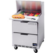 "Food Prep Tables SPED27 Elite Series Standard Top w/ Drawers, 27""W - SPED27B"
