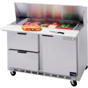 "Food Prep Tables SPED48 Elite Series Mega Top w/ Drawers, 48""W - SPED48-18M-2"