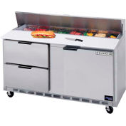 "Food Prep Tables SPED60 Elite Series Cutting Top w/ Drawers, 60""W - SPED60-08C-2"