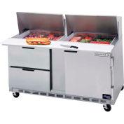 """Beverage Air® SPED60-24M-4 Food Prep Tables Sped60 Elite Series Mega Top W/ Drawers, 60""""W"""