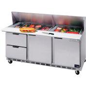 "Beverage Air® SPED72HC-08-2 Food Prep Tables Sped72 Elite Series Standard Top W/ Drawers, 72""W"
