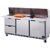 "Beverage Air® SPED72HC-12C-6 Food Prep Tables Sped72 Elite Series Cutting Top W/ Drawers, 72""W"