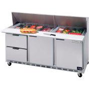 "Food Prep Tables SPED72 Elite Series Mega Top w/ Drawers, 72""W - SPED72HC-12M-4"