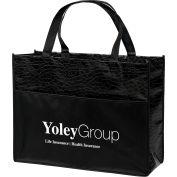 Custom Bag-Couture Gloss Laminated Non-Woven Tote, 16W X 6 X 12H, Screen Print