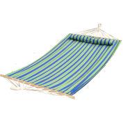 Bliss Oversized Outdoor Hammock with Pillow, Mediterranean