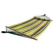 Bliss Oversized Outdoor Hammock with Pillow, Country Club