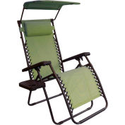 Bliss Gravity Free Recliner w/Shade & Cup Tray, Sage Green