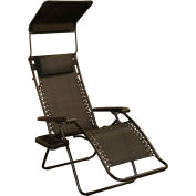 Bliss Gravity Free Recliner w/Shade & Cup Tray, Black