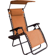 Bliss Gravity Free Recliner w/Shade & Cup Tray, Terra Cotta