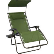 Bliss Wide Gravity Free Recliner w/Shade & Cup Tray , Sage Green