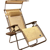 Bliss Wide Gravity Free Recliner w/Shade & Cup Tray , Sand